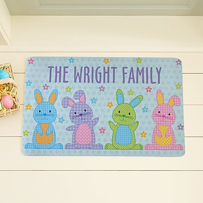Polka Dot Bunnies Doormat