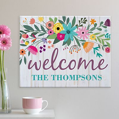 Rainbow Flowers Canvas