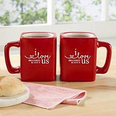 I Love Us Mug Set