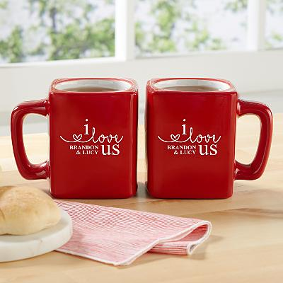 I Love Us Mug Set