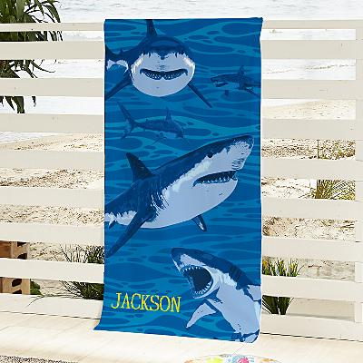 Shark Attack Beach Towel