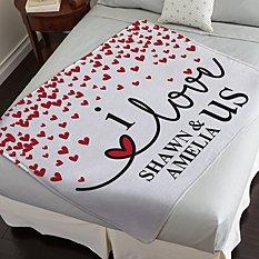 I Love Us Plush Blanket