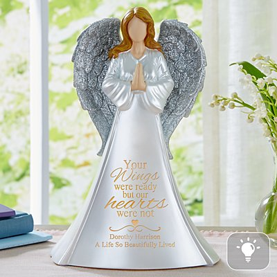 Wings Of Love Memorial Lighted Angel