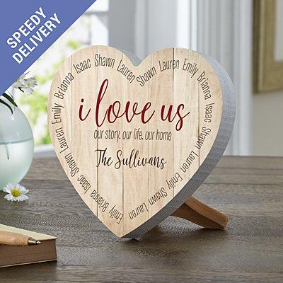 I Love Us Mini Wooden Heart