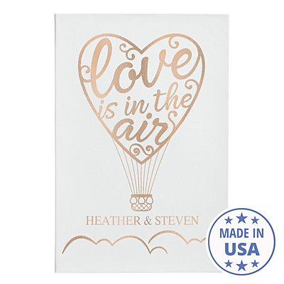 Love Is In The Air Leather Wall Art - White