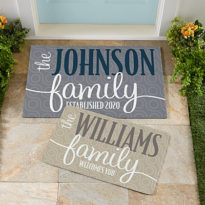 Modern Family Name Doormat