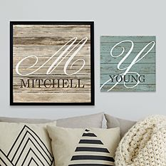 Oversized Initial Canvas