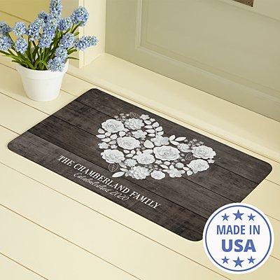 Rustic Floral Doormat