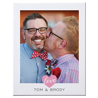 True Love Photo Canvas - 35x27 cm - Vertical