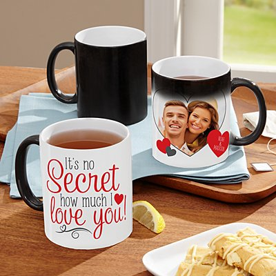 Valentine Secret Message Photo Mug