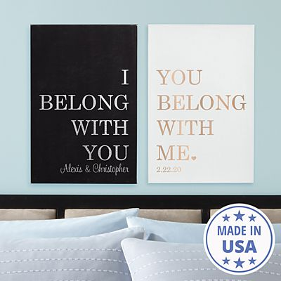 We Belong Together Leather Wall Art Set