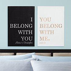 We Belong Together Leather Wall Art Set