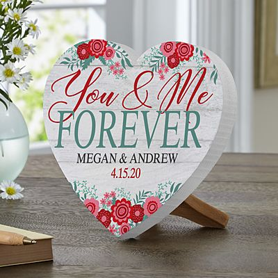 You & Me Forever Mini Wood Heart