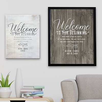 Welcome to Our Beginning Canvas