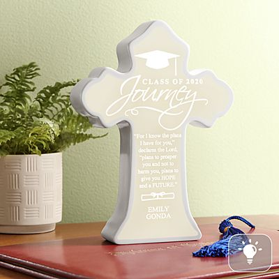 Graduation Journey Lighted Cross