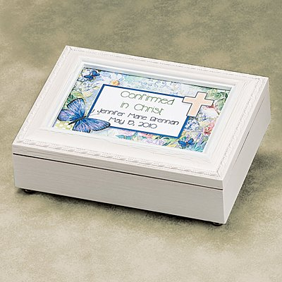 Communion/Confirmation White Music Box
