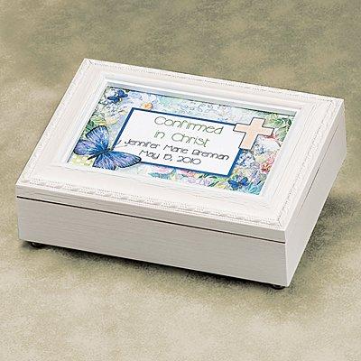Communion/Confirmation White Music Box