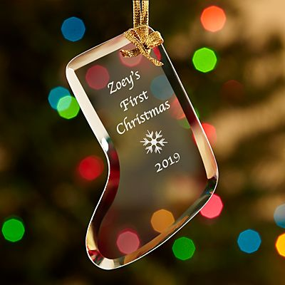 Glass Stocking Ornament