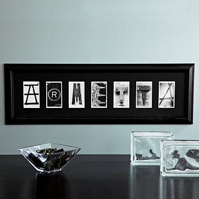 Architectural Alphabet Framed Print