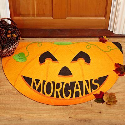 Half Round Pumpkin Doormat