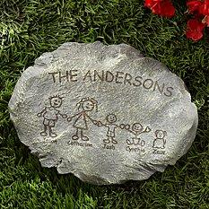 Family Cartoon Character Stepping Stone