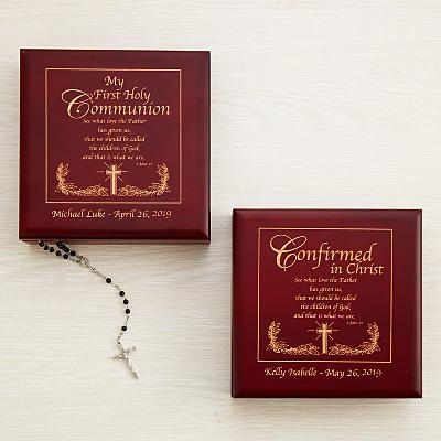 Scripture Communion & Confirmation Keepsake Box