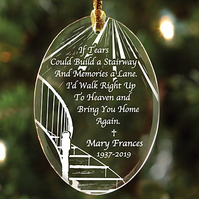Memorial Suncatcher Ornament - Oval
