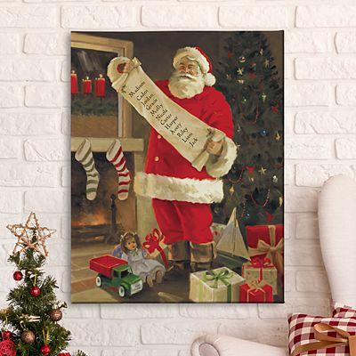 Santa's List Canvas