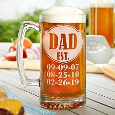 Dad Established Oversized Beer Mug