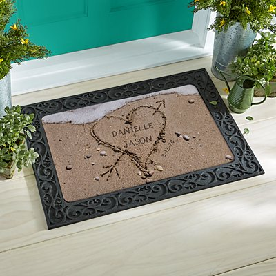 Heart in Sand Doormat