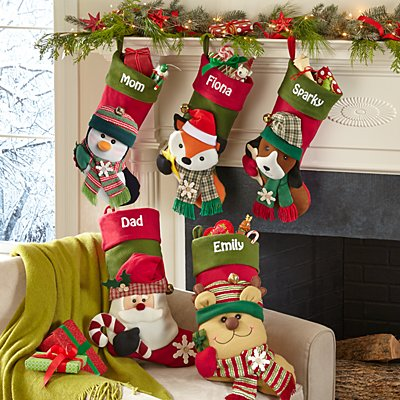 Big Face Jingle Bell Personalized Stocking
