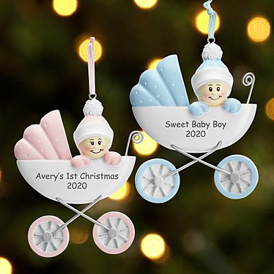 Baby in Carriage Ornament