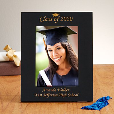 """Class of"" Black Laser Picture Frame"