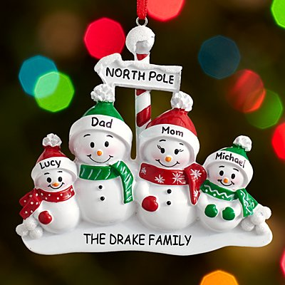 North Pole Family Ornament