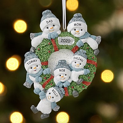 The Original Snow Buddies®  Family Wreath Ornament
