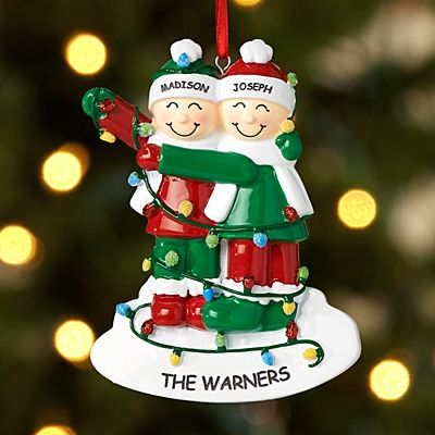 Tangled in Lights Couple Ornament