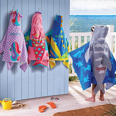 Stephen Joseph® Beachy Fun Hooded Beach Towels