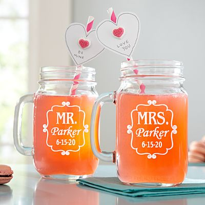 Perfect Pair Mason Drinking Jar - Set Of 2