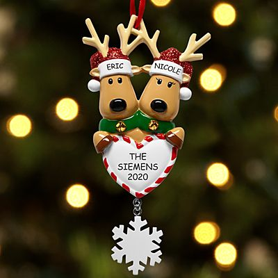 Reindeer Couple Ornament