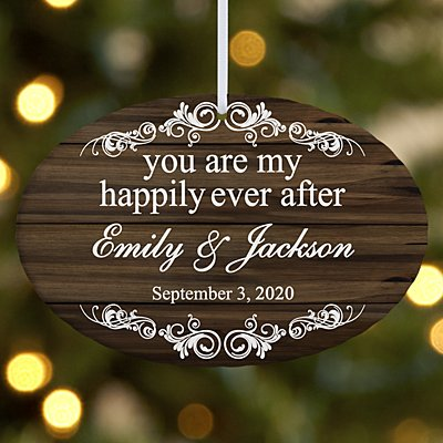 You Are My Happily Ever After Oval Ornament