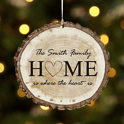 Heart of the Home Wood Ornament