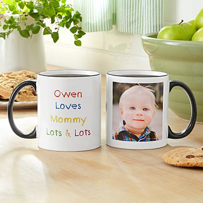 Colorful Crayon Message Photo Mug