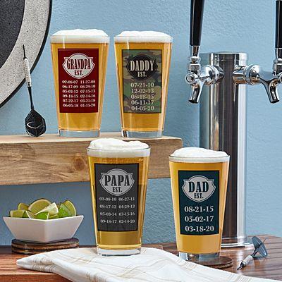 Established Pint Beer Glass