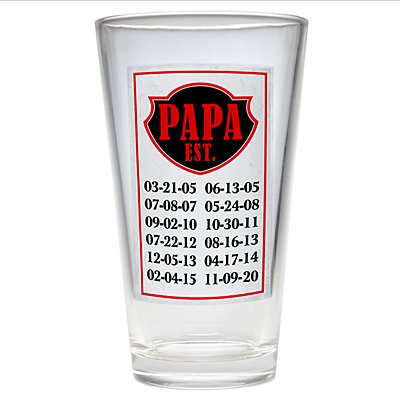 Established Pub Glass
