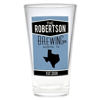 Home State Pint Beer Glass - Blue