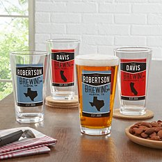 Home State Pint Beer Glass