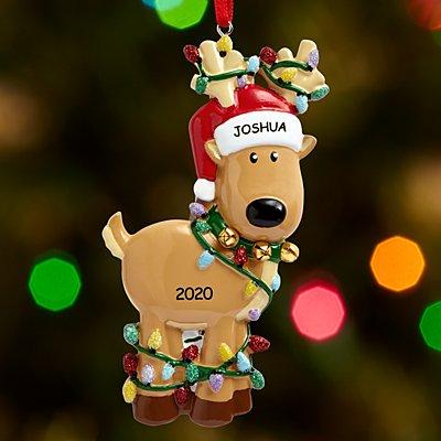Tangled in Lights Reindeer Ornament
