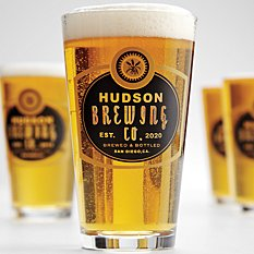 Personalized Barley Pint Beer Glasses