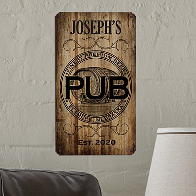Personal Pub Metal Sign