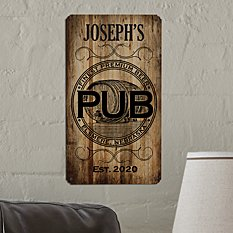 Personal Pub Metal Sign